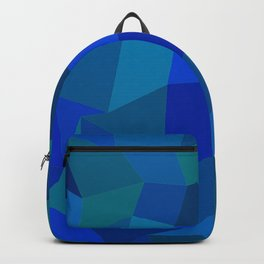Geometric shapes,plane,triangles,polygons,hexagons,abstract,light blue  Backpack