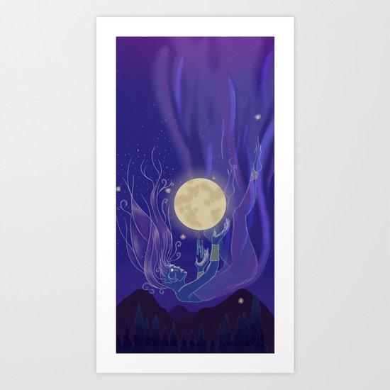 Moon Godess Art Print