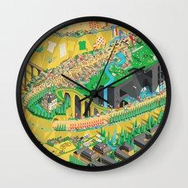 Tour De France Eiffel Tower Wall Clock