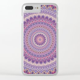 Mandala 489 Clear iPhone Case