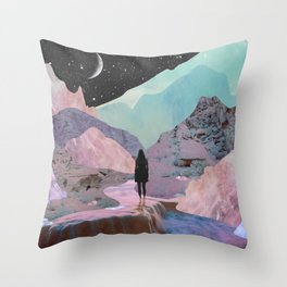 The Mountains of Lemuria Throw Pillow