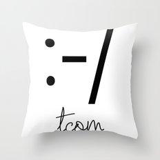 CROOKED SMILE Throw Pillow