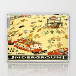 Vintage poster - London Underground Laptop & iPad Skin