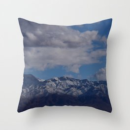 Desert Snow on Christmas! Throw Pillow