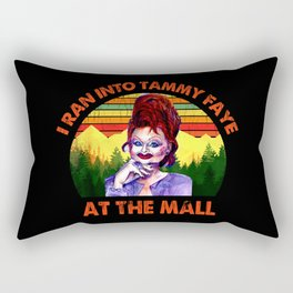 I Ran Into Tammy Faye At The Mall Vintage Rectangular Pillow