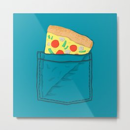 Emergency supply - pocket pizza Metal Print
