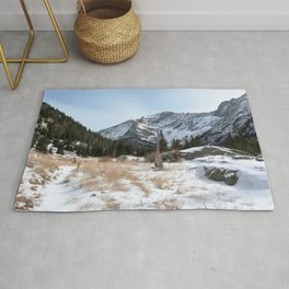 Watercolor Landscape, North Crestone Trail 04, Colorado Rug