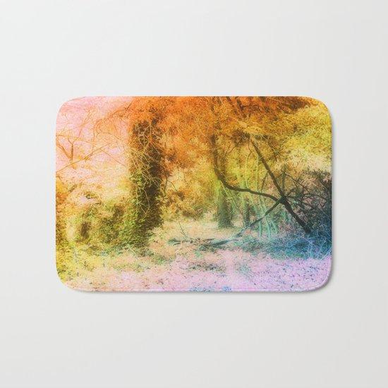 Colorful Tree Landscape Bath Mat