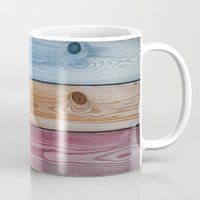 wooden Mugs featuring Wooden Rainbow by Nicklas Gustafsson