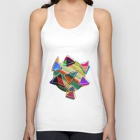 grid Tank Tops featuring grid points by Matthias Hennig
