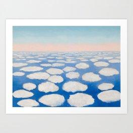 Georgia O'Keeffe Above the Clouds Art Print