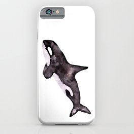 Watercolor Orca Killer Whale iPhone Case