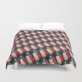 Texas State Flag Vintage Pattern Duvet Cover