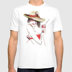 cocktail White MEDIUM Mens Fitted Tee