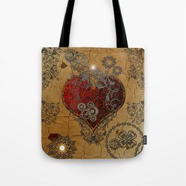 Steampunk, awesome heart Tote Bag