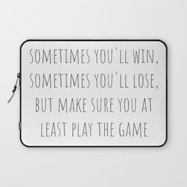 Play The Game Laptop Sleeve