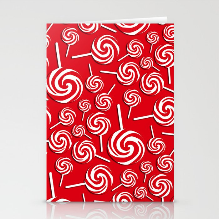 Candy Swirls-Large Stationery Cards