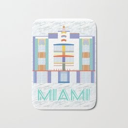 Miami Landmarks - The Berkeley Shore Bath Mat