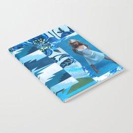 J004: blonde & blue Notebook