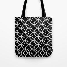 Brushed Circles Inverse Tote Bag