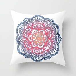 Radiant Medallion Doodle Throw Pillow
