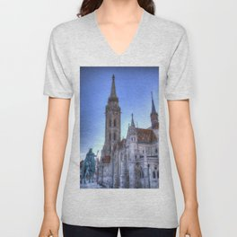 Mathias Church Budapest Unisex V-Neck