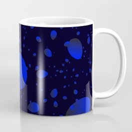 Large sea drops and petals on a blue background in nacre. Coffee Mug