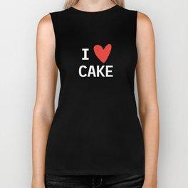 I Heart Cake Biker Tank