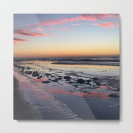 Sunrise Reflection North Topsail Island, NC God Sky Art  Metal Print