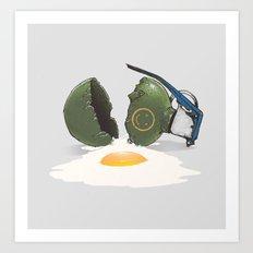 Eggsplosion Art Print