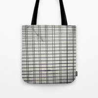 grid Tote Bags featuring Grid by farsidian