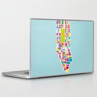 manhattan Laptop & iPad Skins featuring Manhattan by Glen Gould