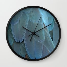 Blue feather Wall Clock