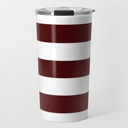 Bulgarian rose - solid color - white stripes pattern Travel Mug