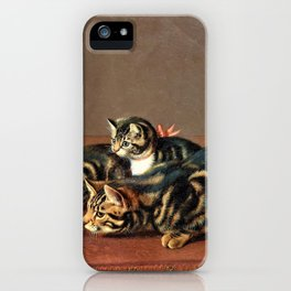 Cats By A Fishbowl - Horatio Henry Couldery iPhone Case