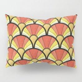 Radiant Sunshine Art Deco Pattern Pillow Sham