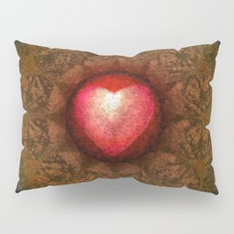 Valentine Heart Mandala Abstract (Love Overcomes the Darkness) Pillow Sham