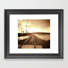 Tracks of my Heart Framed Art Print