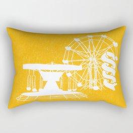 Seaside Fair in Yellow Rectangular Pillow