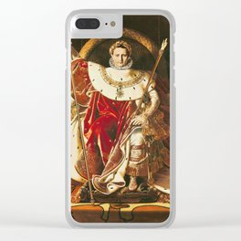 Jean Auguste Dominique Ingres - Napoleon I (1769 - 1821) On The Imperial Throne Clear iPhone Case