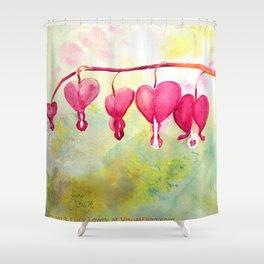 Bleeding Heart Branch Shower Curtain