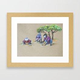 Gardening Ajummas Framed Art Print