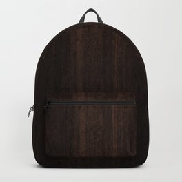 Very Dark Coffee Table Wood Texture Backpack