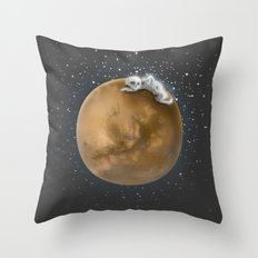 Lost in a Space / Marsporror Throw Pillow