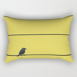 Bird and wires Rectangular Pillow