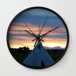 Teepee Dreams Wall Clock
