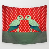 dot Wall Tapestries featuring parrot dot ! by AmDuf