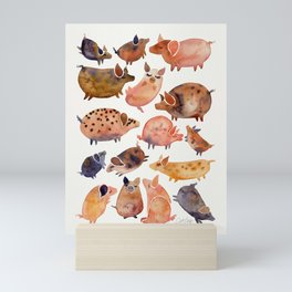Pig Collection Mini Art Print