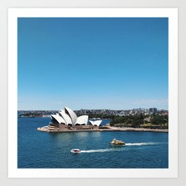 Boats by the Opera House in Australia's Sydney Harbour Art Print