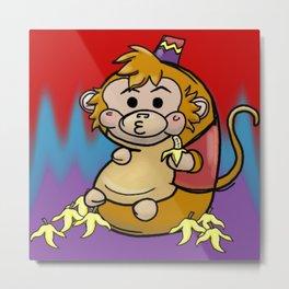 Chunky Monkey Metal Print